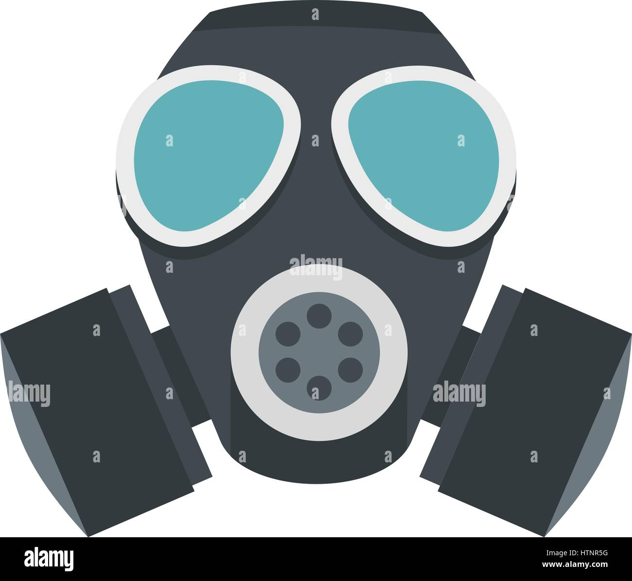 army gas mask icon flat style stock vector art illustration rh alamy com gas mask cartoon picture gas mask cartoon pics