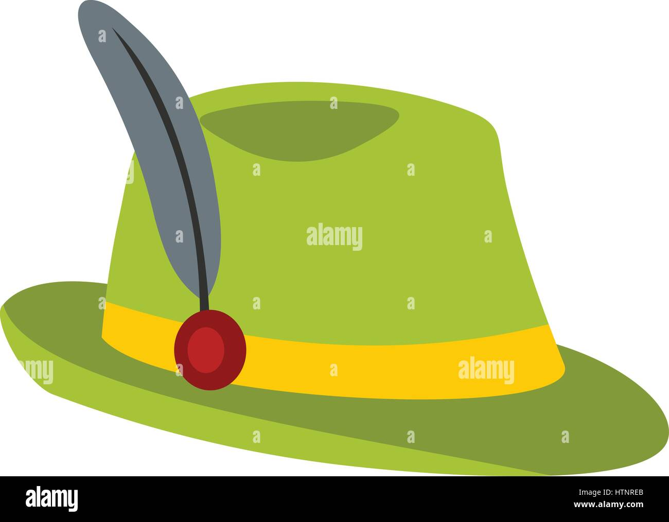 c2cd5e94581 Green hat with feather icon