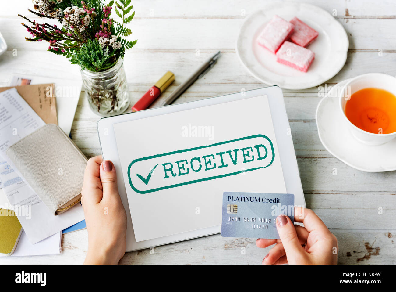 Authorized Received Tick Stamp Concept - Stock Image