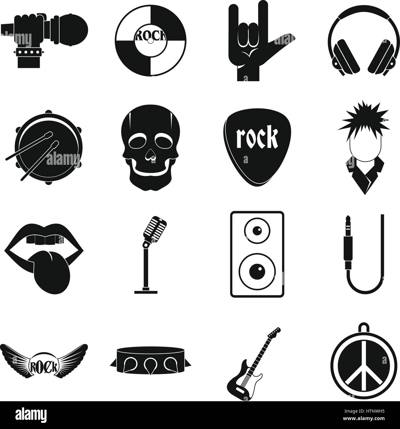 Rock And Roll Sign Cut Out Stock Images Pictures Alamy