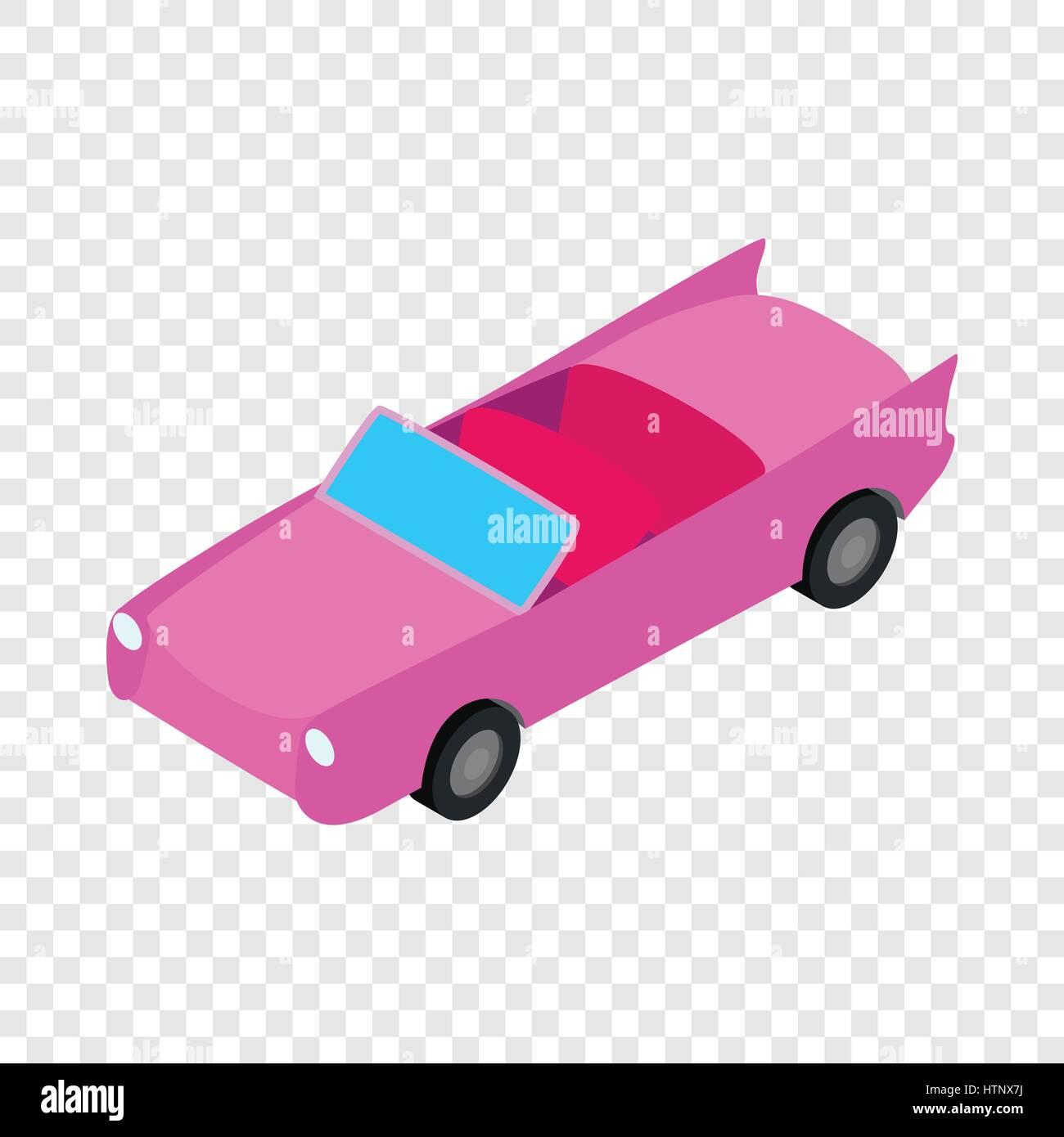 Car convertible isometric icon - Stock Image
