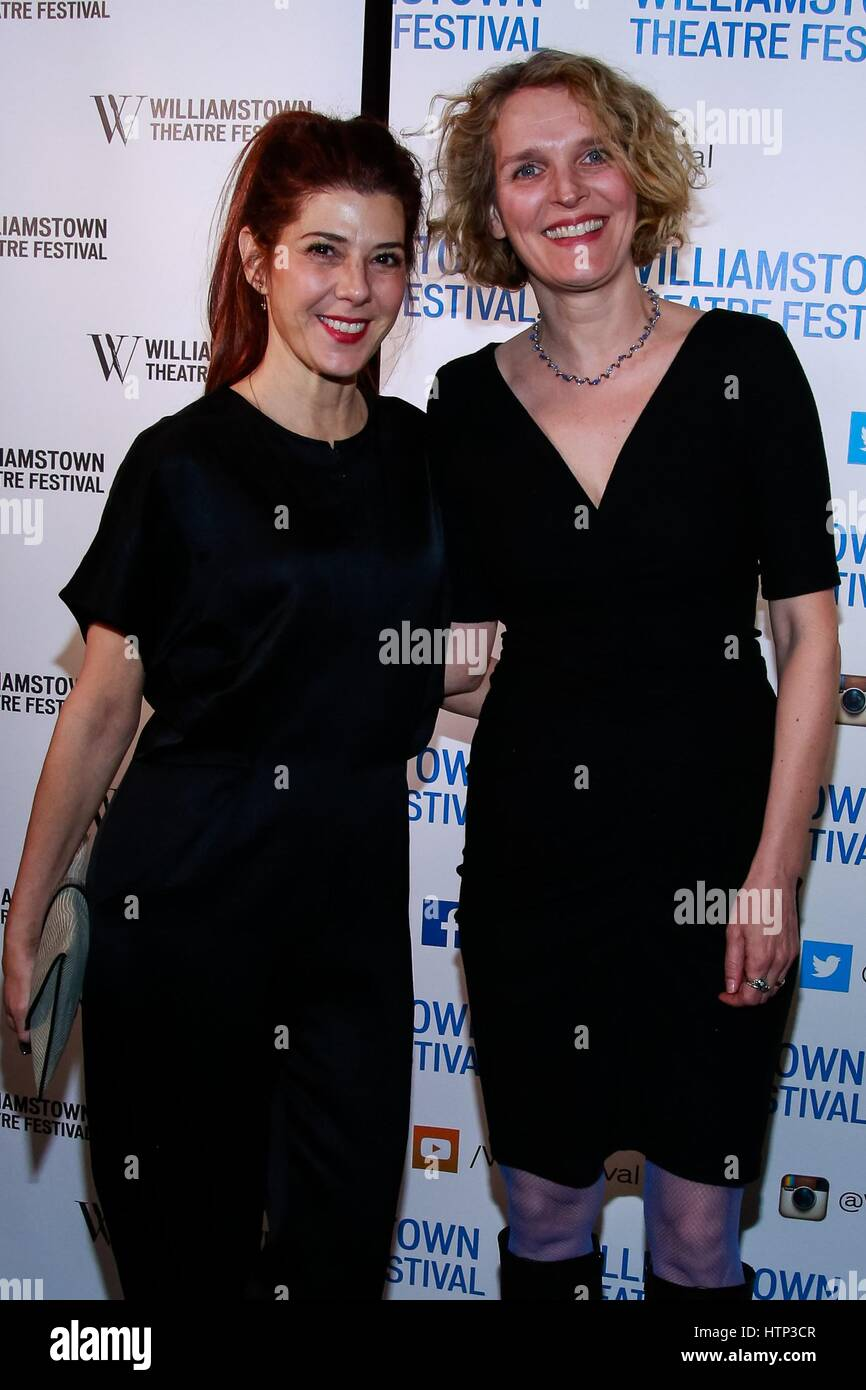 New York, NY, USA. 13th Mar, 2017. Marisa Tomei, Melissa James Gibson at arrivals for Williamstown Theatre Festival - Stock Image