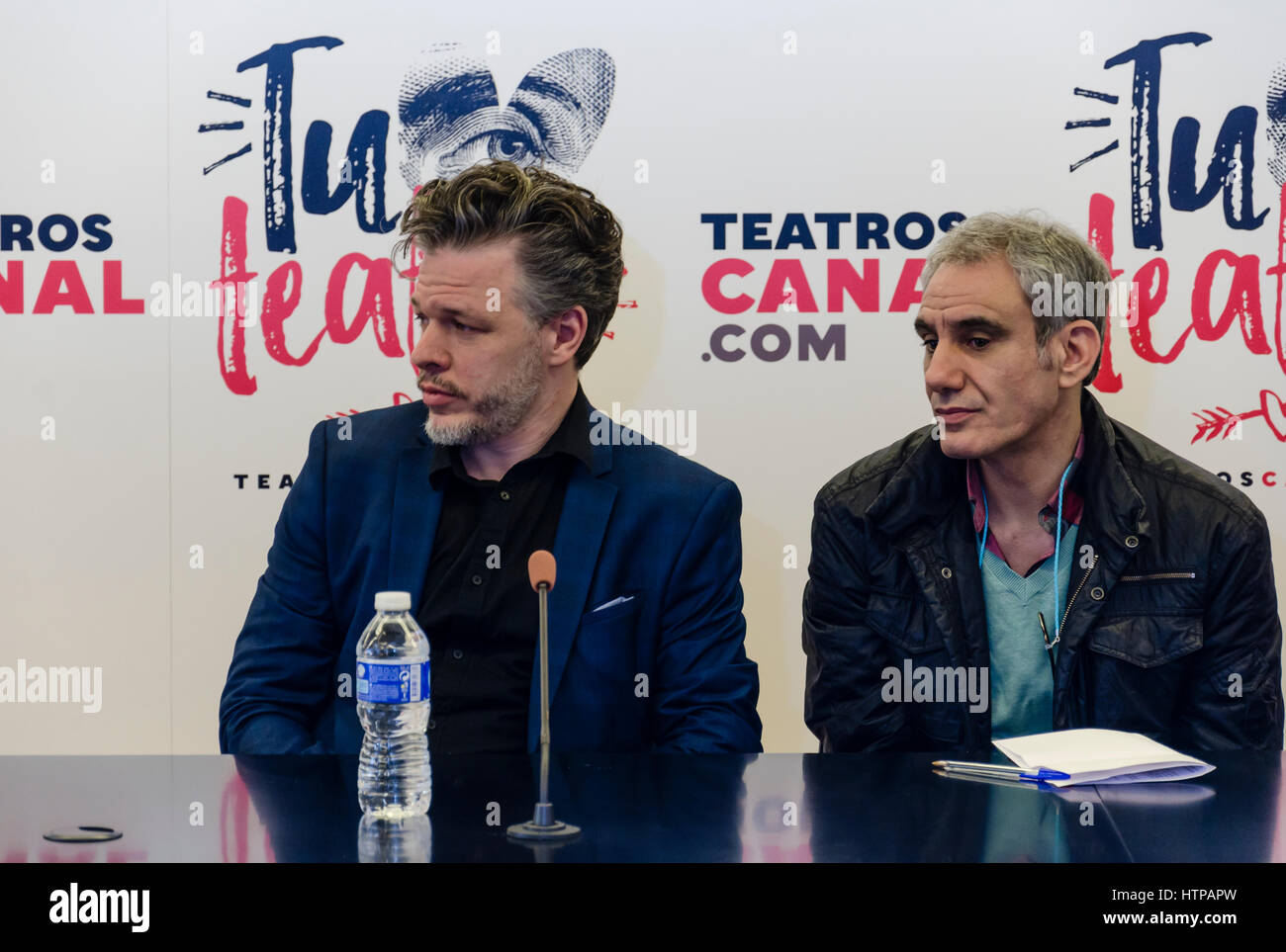 "Madrid, Spain. 16th March, 2017. Opera presentation ""Le malentendu"" of Fabián Panisello based in the play of Albert Stock Photo"