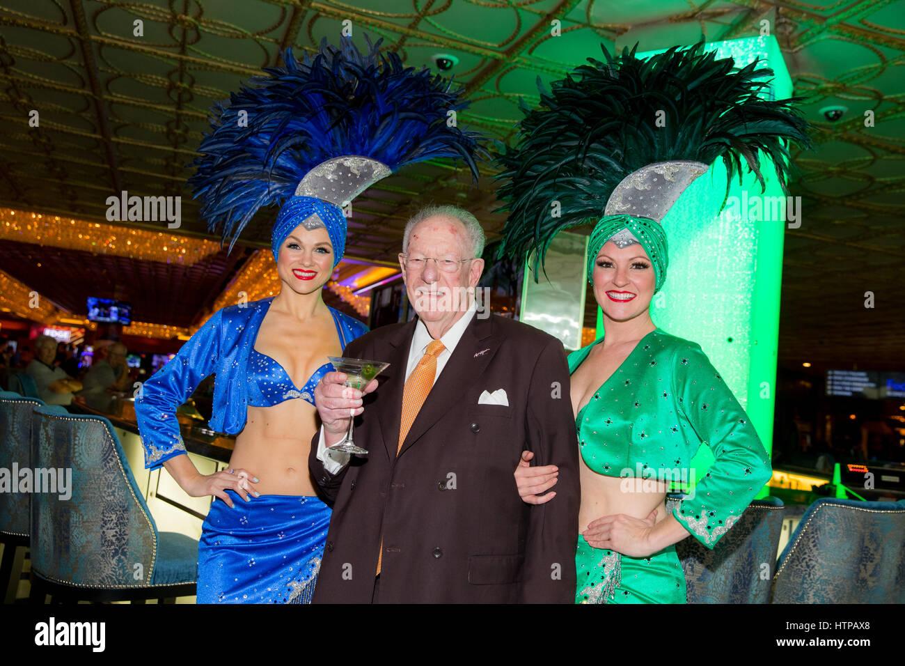 Las Vegas, NV, USA. 16th Mar, 2017. ***HOUSE COVERAGE*** Former Las Vegas Mayor and Host Committee Chairman Oscar - Stock Image