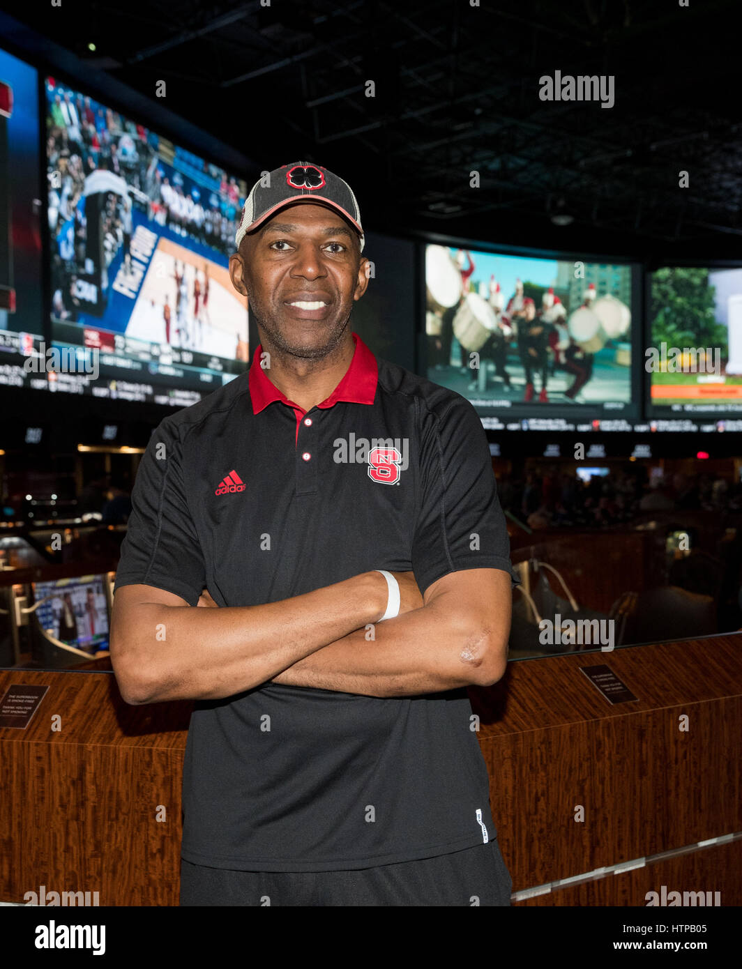Las Vegas, NV, USA. 16th Mar, 2017. ***HOUSE COVERAGE*** Former NBA Player Thurl Bailey pictured at the world's - Stock Image