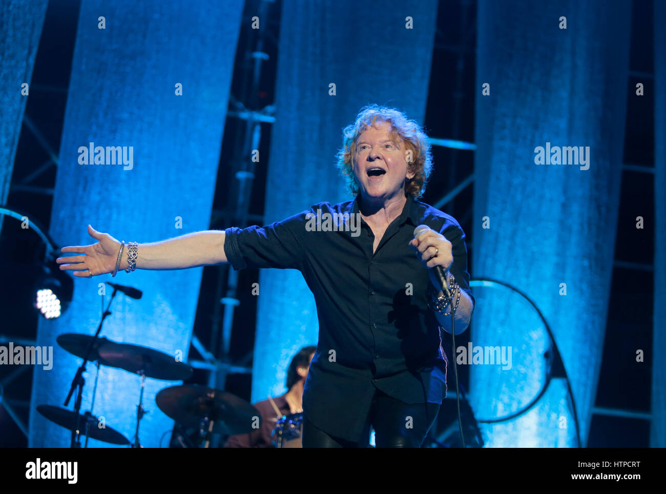 Simply red live in Majorca, Spain - Stock Image