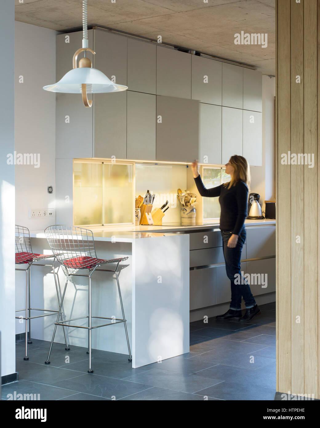 Interior View Of Kitchen. Private House, London, United Kingdom. Architect:  Panter