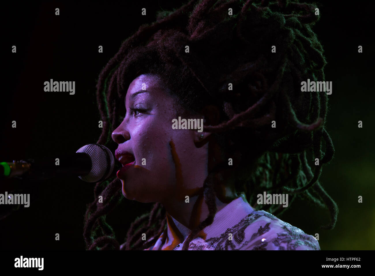 February 7th, 2017 - Toronto, Ontario, Canada: Nashville singer Valerie June performs at The Great Hall - Stock Image