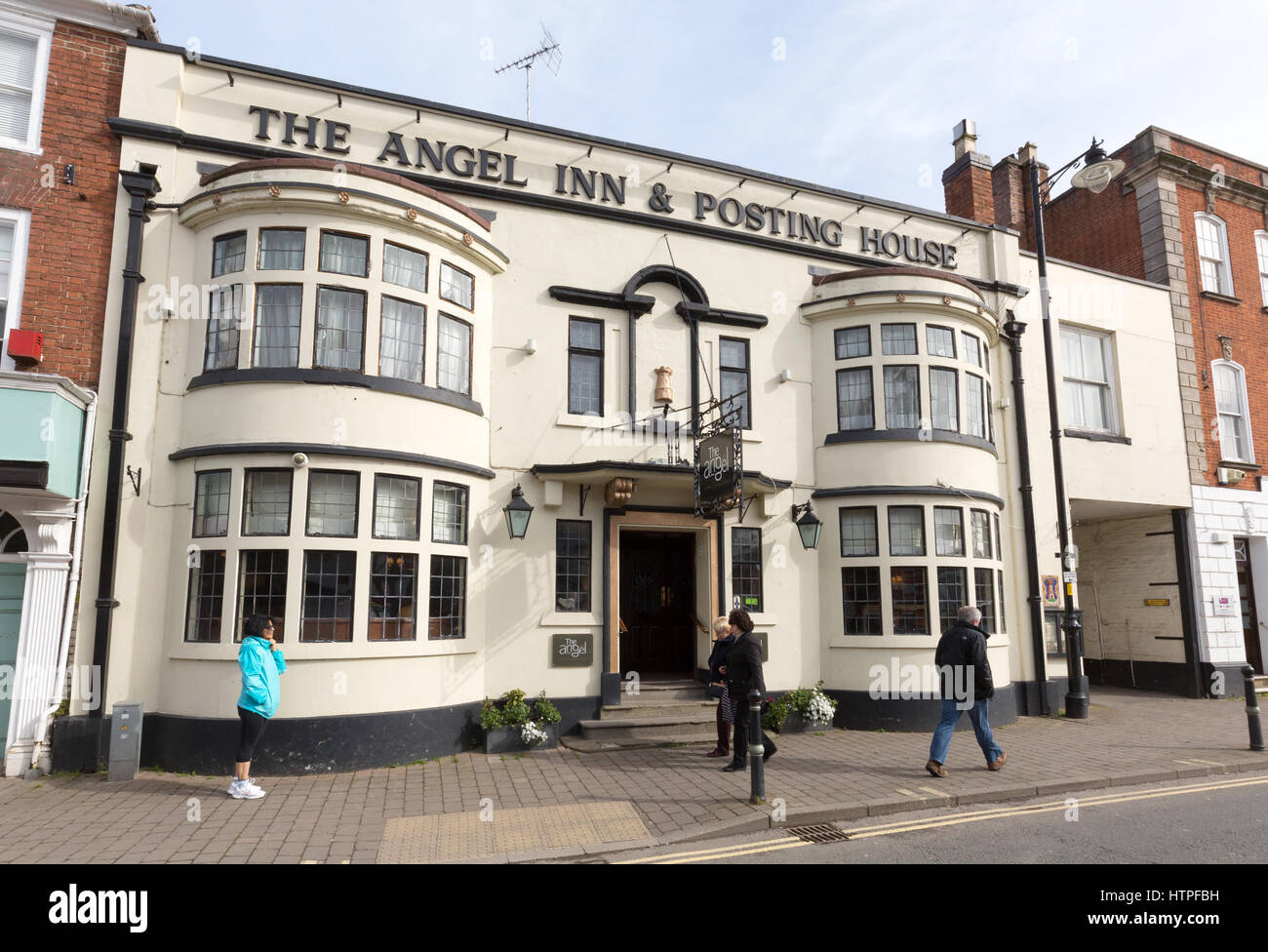 The Angel Inn & Posting House AKA The Angel Hotel, High Street, Pershore, Worcestershire England UK - Stock Image
