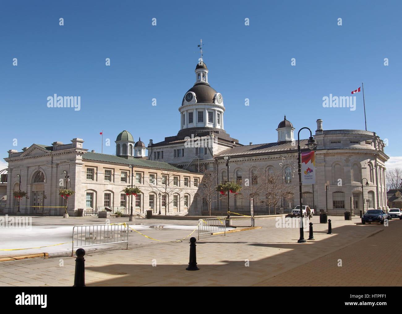 Kingston, Ontario, Canada, March 8,2017. Kingston, Ontario, Canada, March 8,2017. View of the Kingston City Hall, - Stock Image