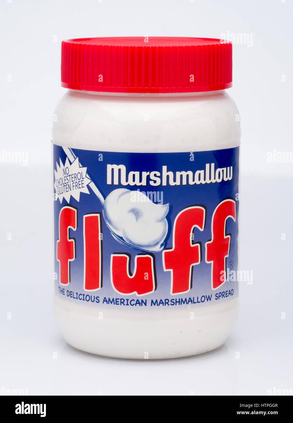 Jar of Marshmallow Fluff - Stock Image