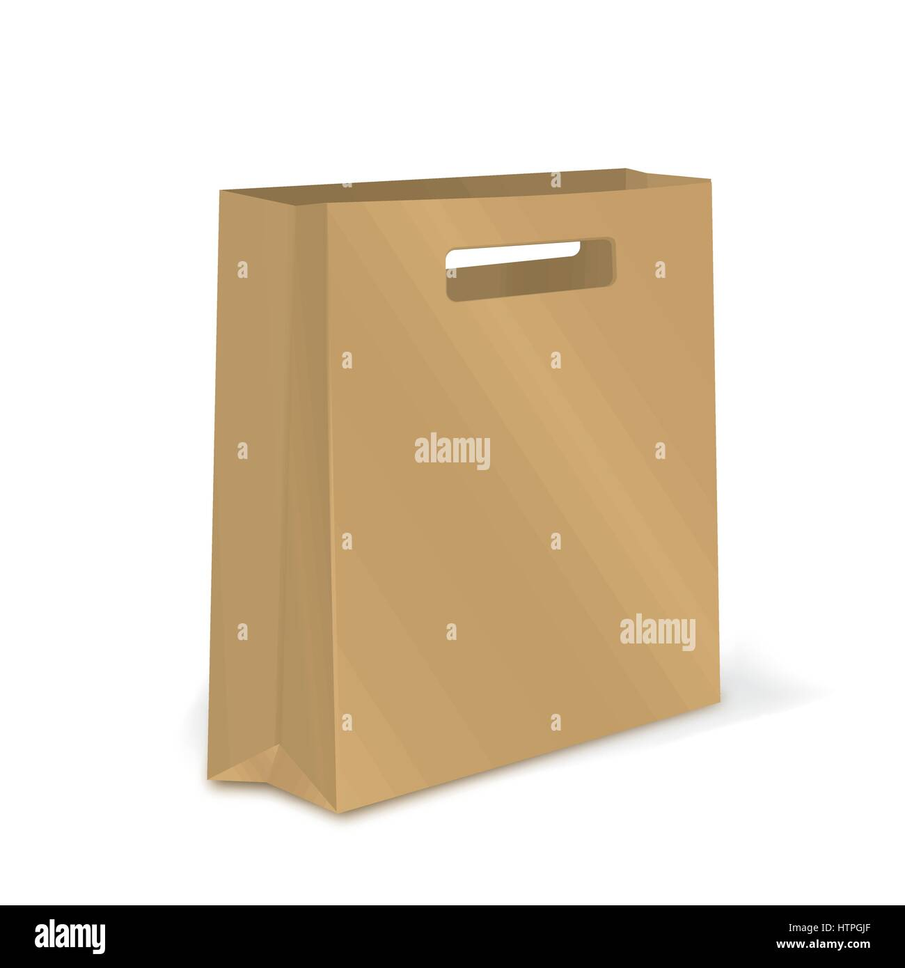 empty shopping bag graft paper package for advertising or branding