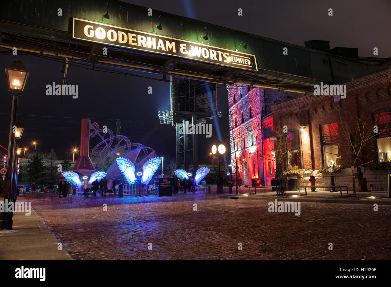 TORONTO- MARCH 12, 2017: The Toronto Light Fest is an annual event that showcases the artwork of various artists - Stock Image