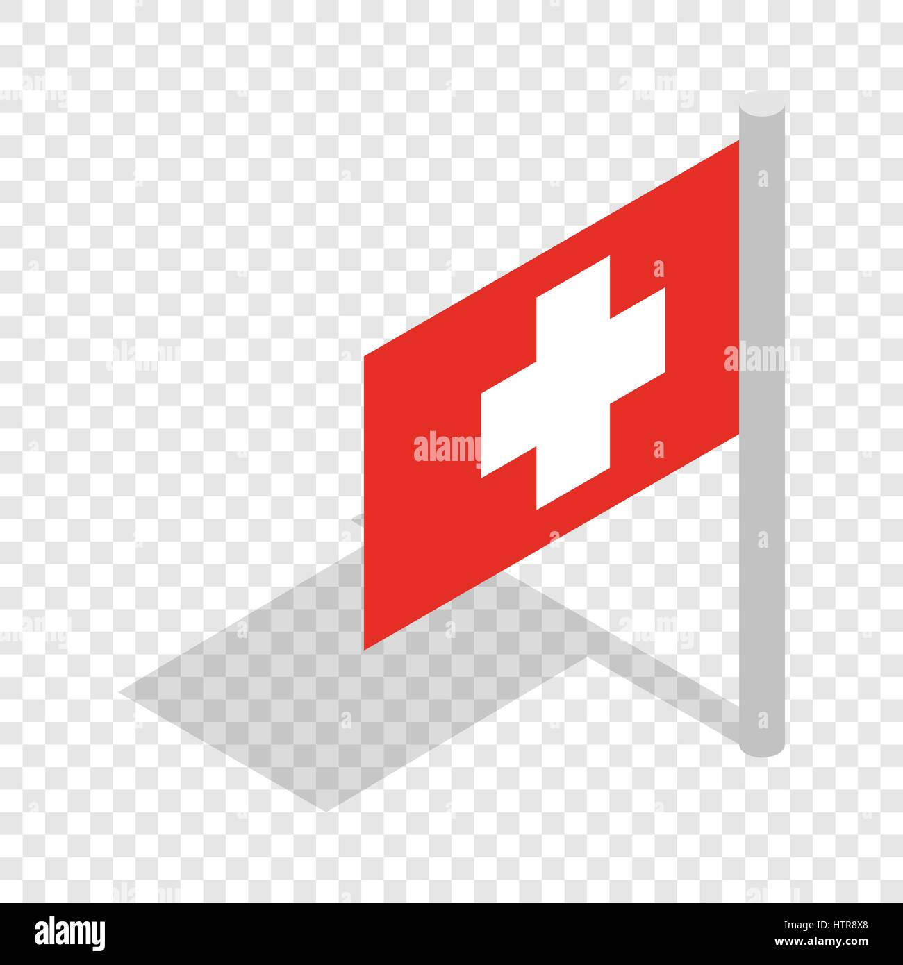 Switzerland flag isometric icon - Stock Vector