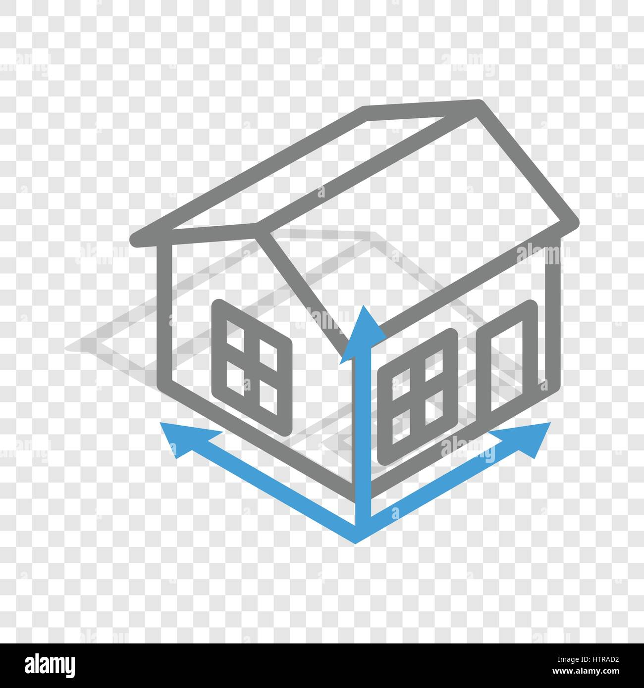 House drawing isometric icon Stock Vector
