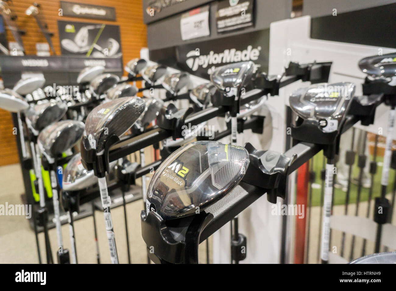 d6ccf3518118 TaylorMade brand golf drivers in the new Dick's Sporting Goods store in the  Glendale neighborhood of Queens in New York during its grand opening sales  on ...