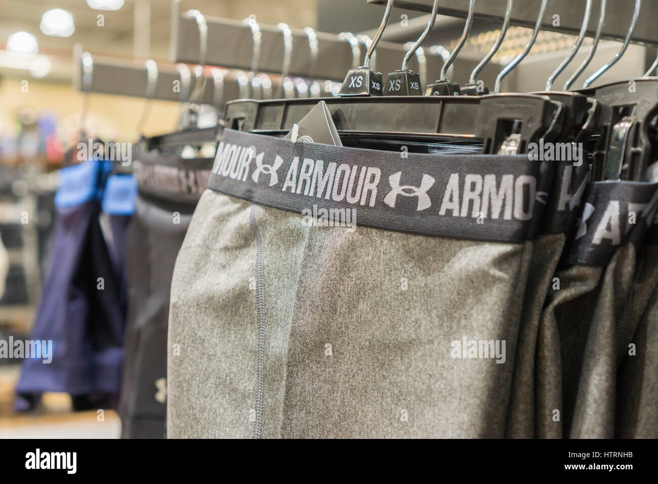 Privación Patria limpiar  Under Armour brand clothing in new Dick's Sporting Goods store in the Stock  Photo - Alamy