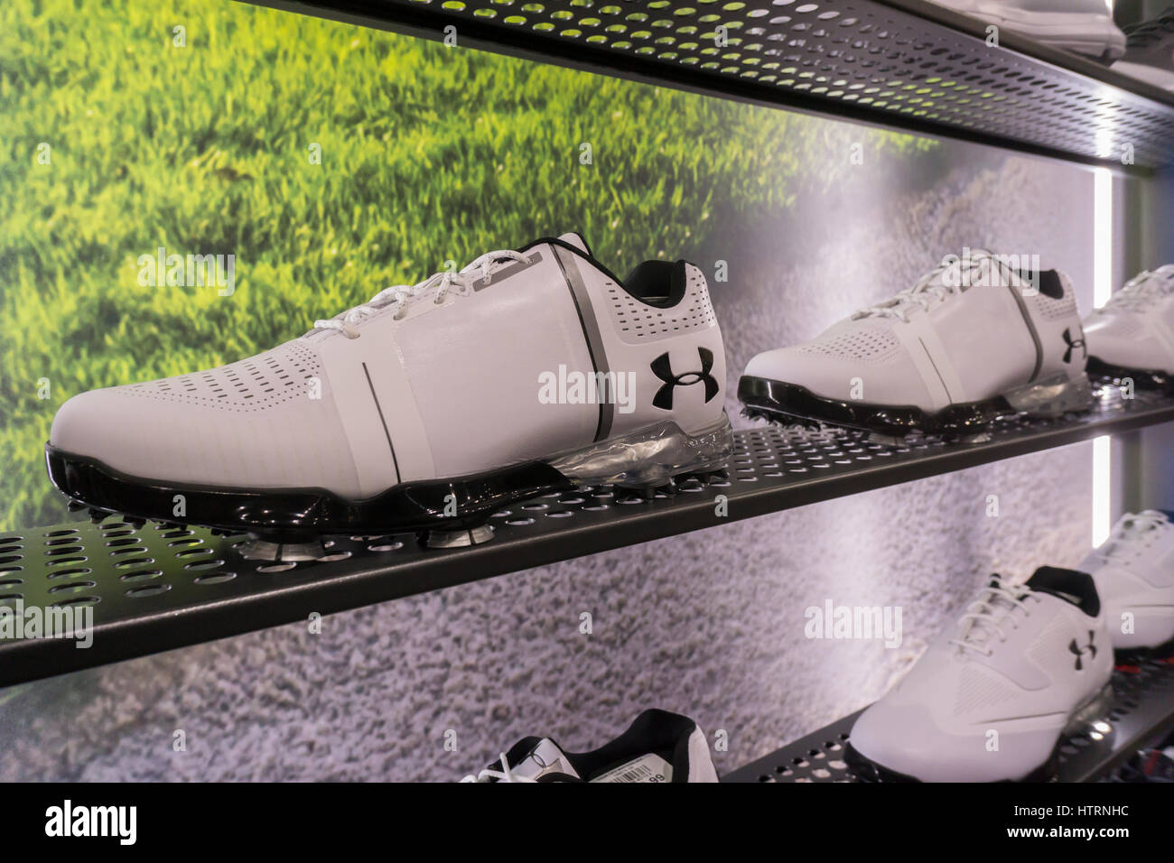 Under Armour brand golf shoes in the