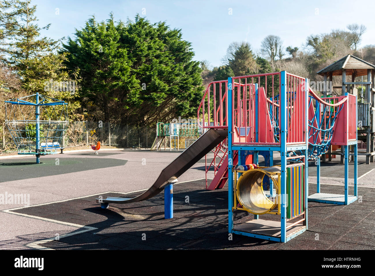 Deserted child's playground in Bantry, West Cork, Ireland with copy space. - Stock Image