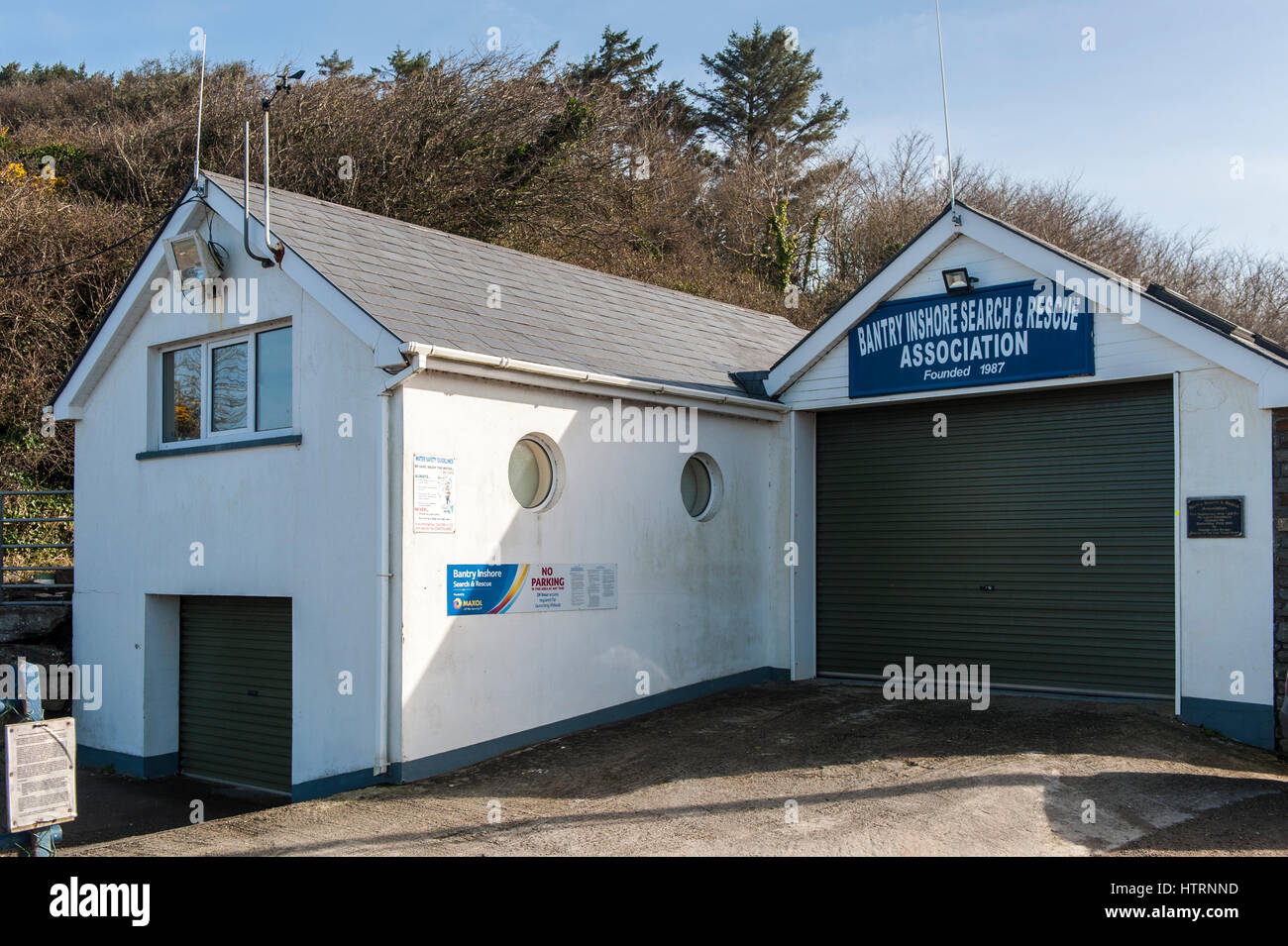 Bantry Inshore Search & Rescue Association building in Bantry, West Cork, Ireland with copy space. - Stock Image