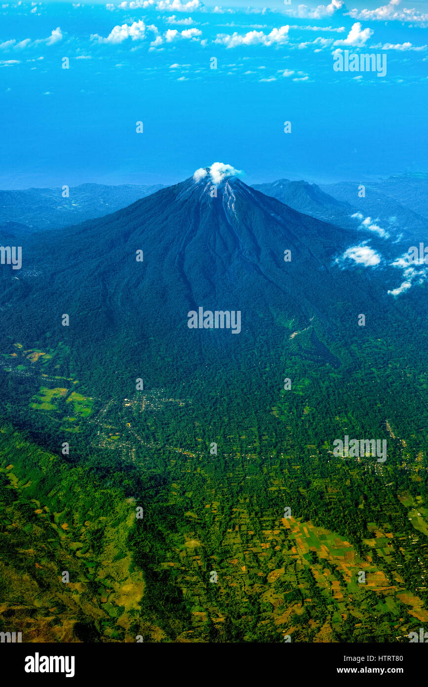 Aerial view of Ebulobo volcano in Flores Island, Indonesia. © Reynold Sumayku - Stock Image