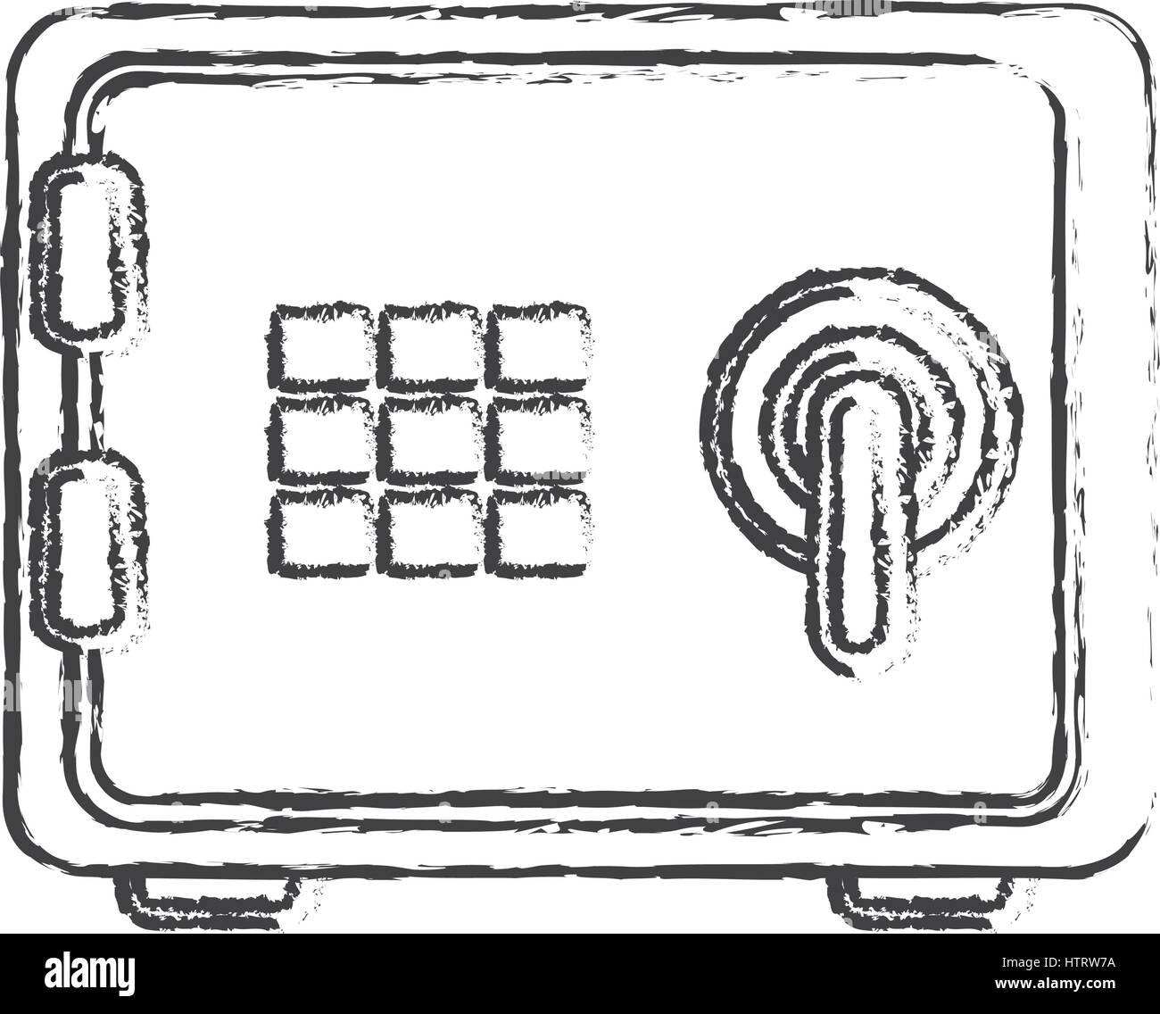 safe box money icon - Stock Image