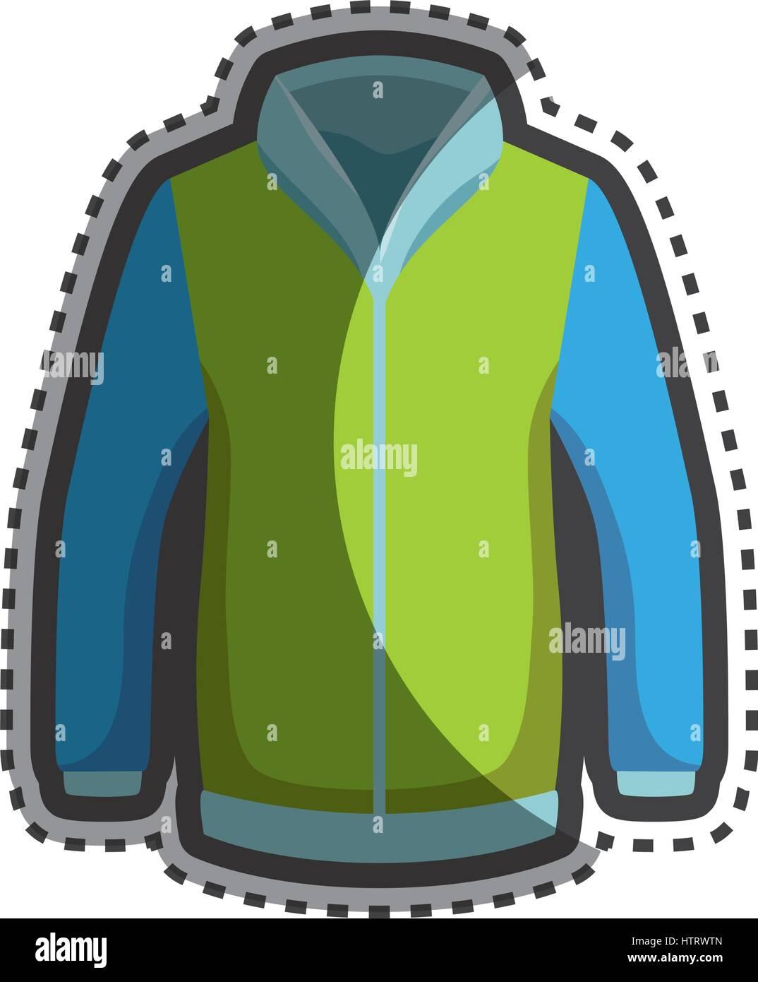 0ead11c9ed1 Fashion winter jacket icon Stock Vector Art & Illustration, Vector ...