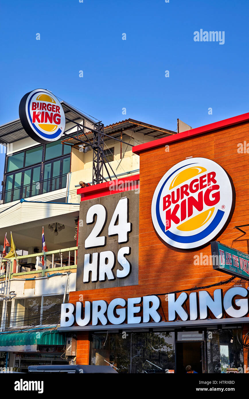 Burger King Fast Food Restaurant With 24 Hour Opening At
