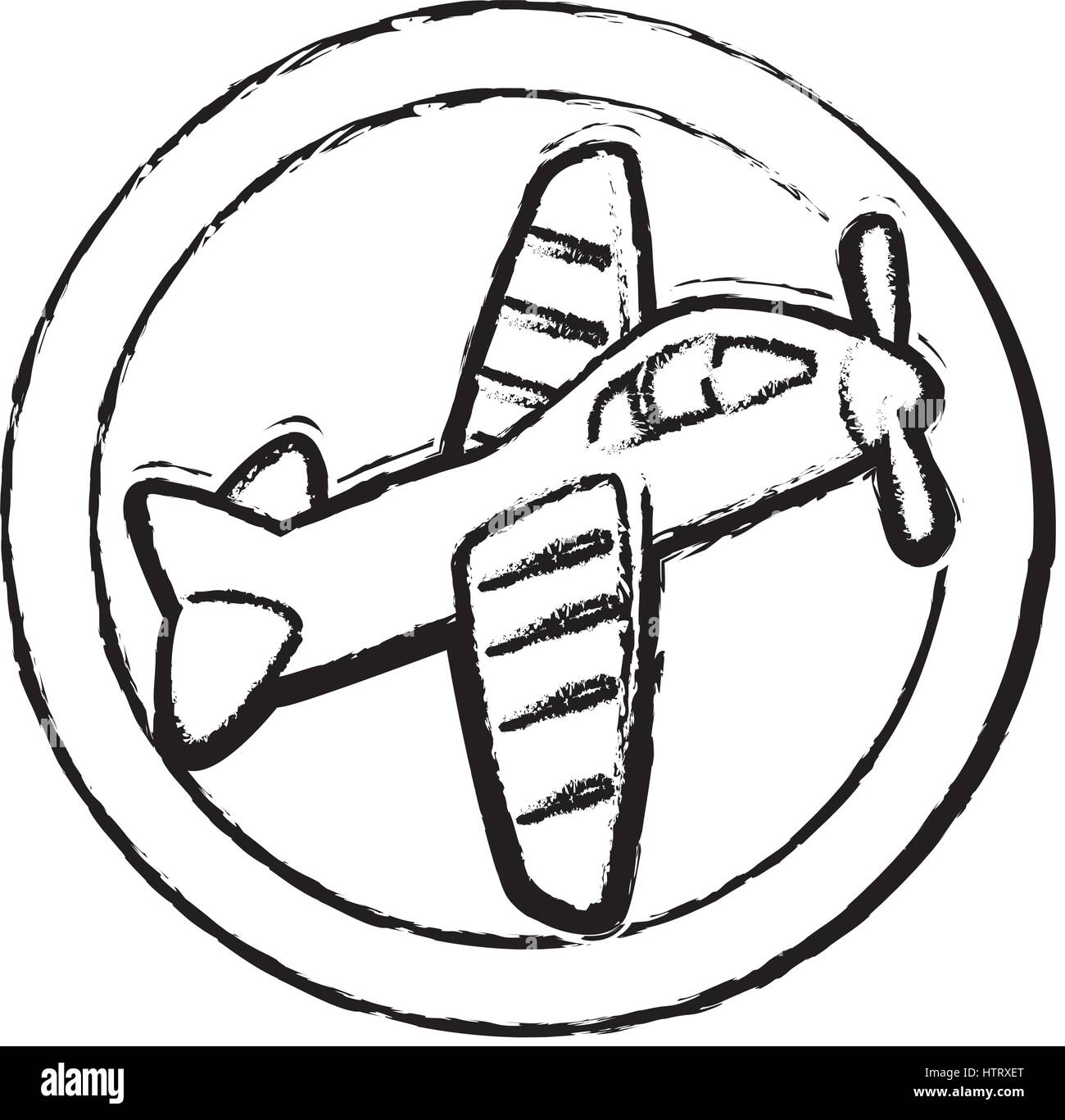 Cute Airplane Toy Icon Stock Vector Image Art Alamy