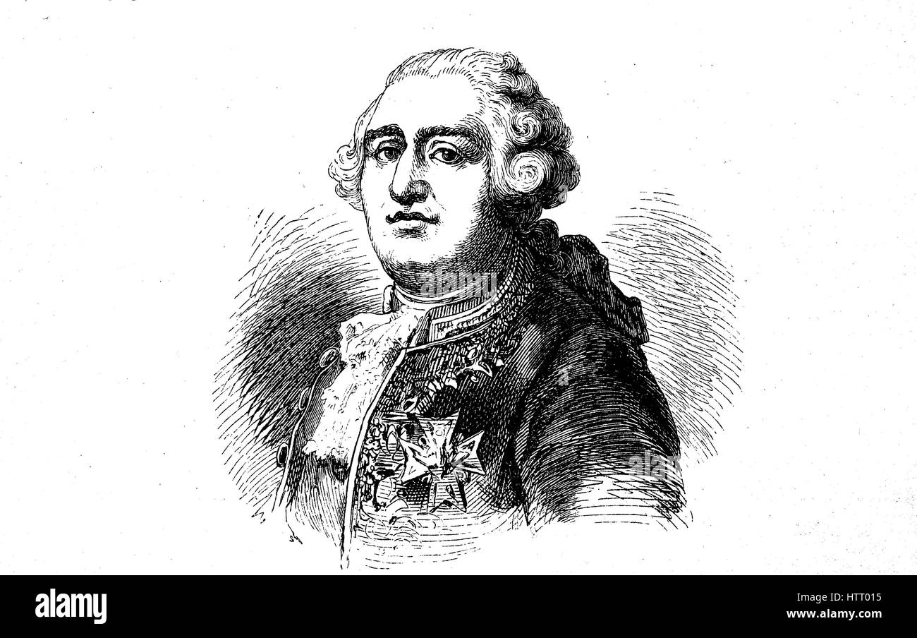 Louis XVI, 23 August 1754 - 21 January 1793, born Louis-Auguste, was also known as Louis Capet during the French - Stock Image