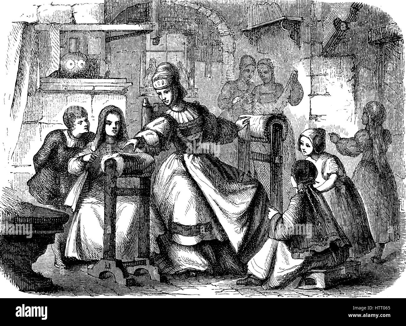 Barbara Uthmann, born around 1514, Annaberg in the Ore Mountains in Germany, died 14 January 1575, was considered - Stock Image