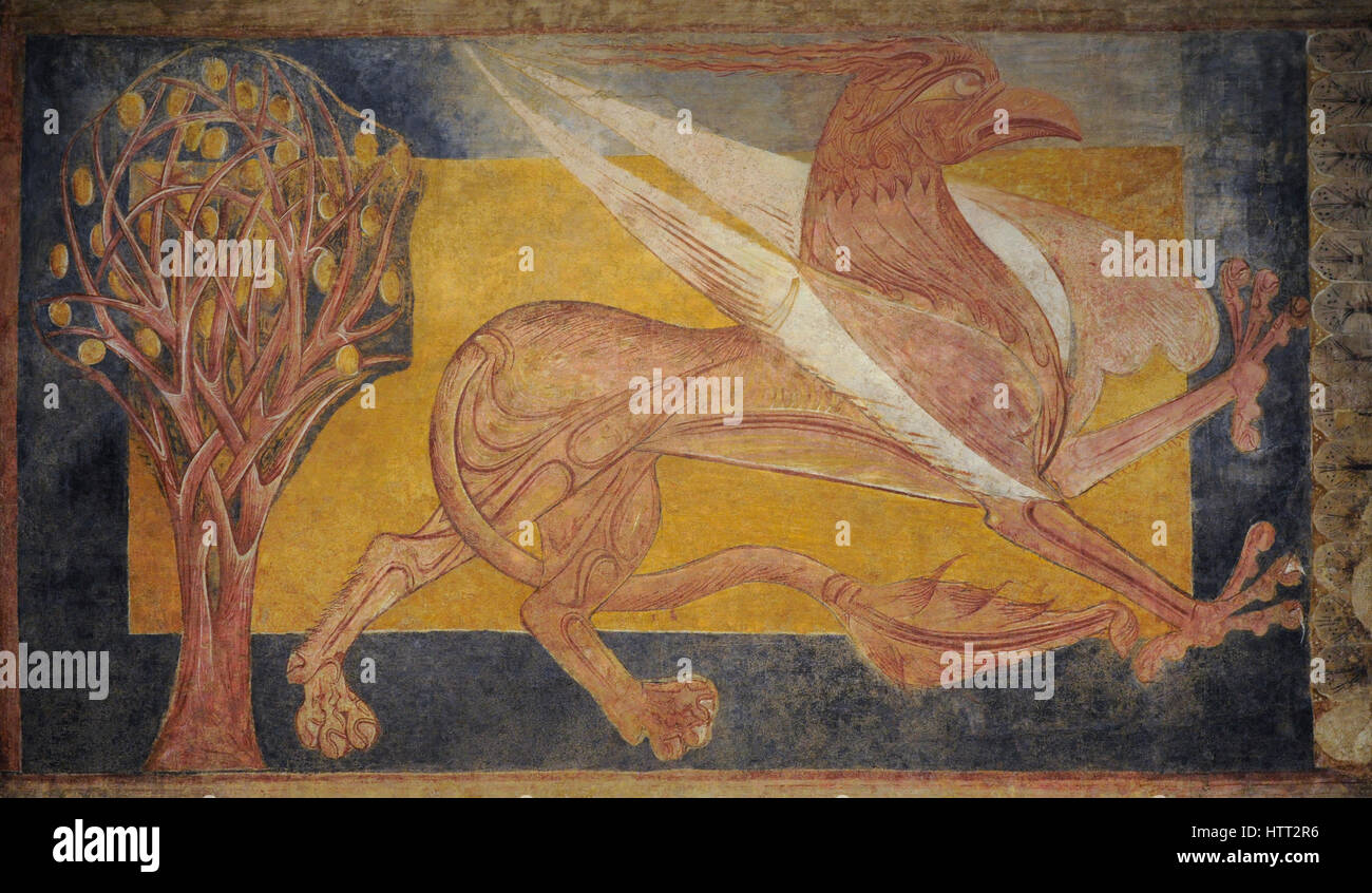 Griffin, ca.1210. Anonymous, Castile and Leon. From athe Benedictine abbey of San Pedro de Arlanza, Burgos province. - Stock Image