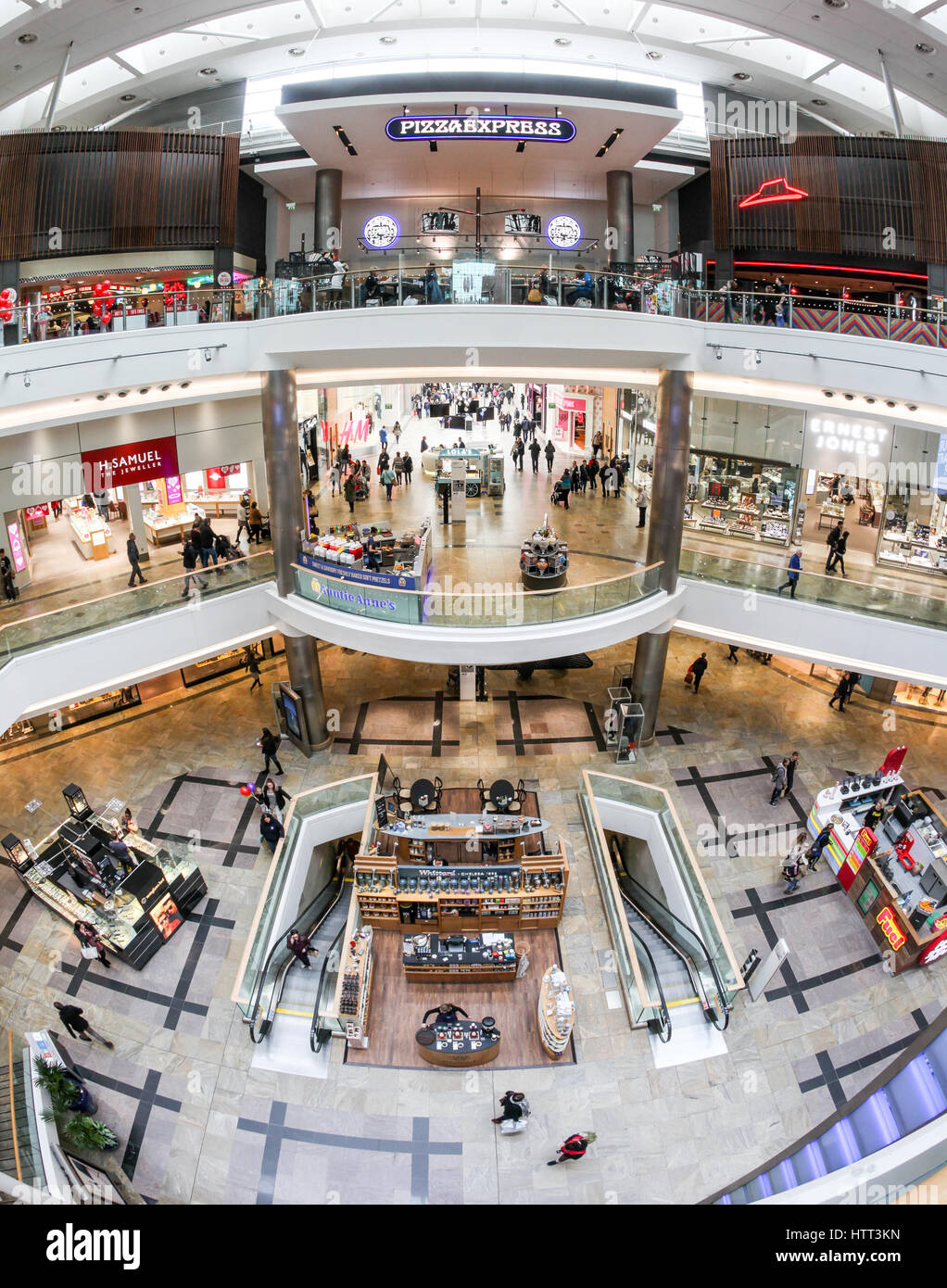 Westquay Shopping Centre In Southampton Stock Photo