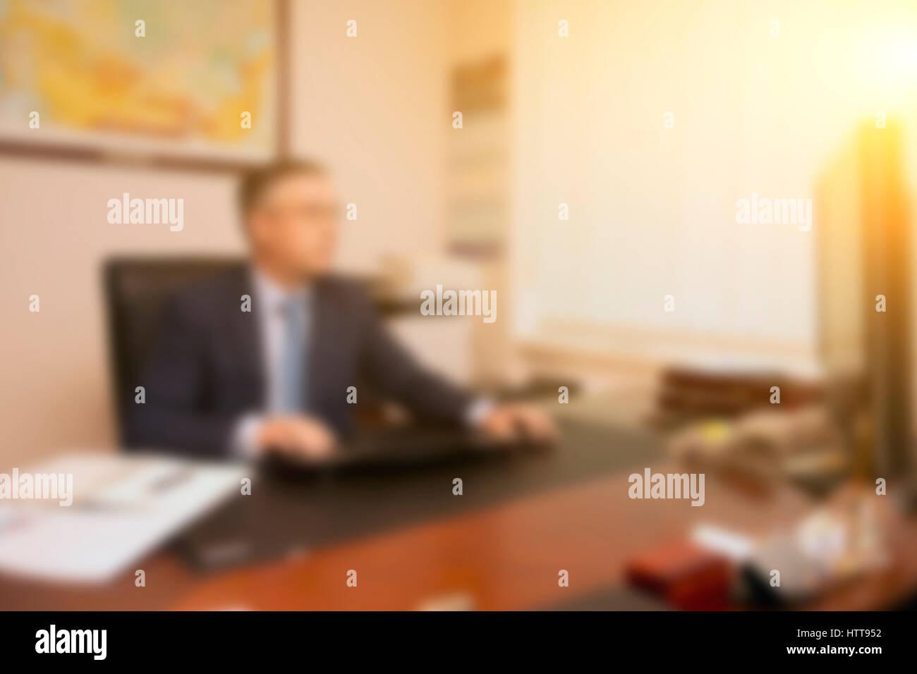Photo men sitting in office - Stock Image