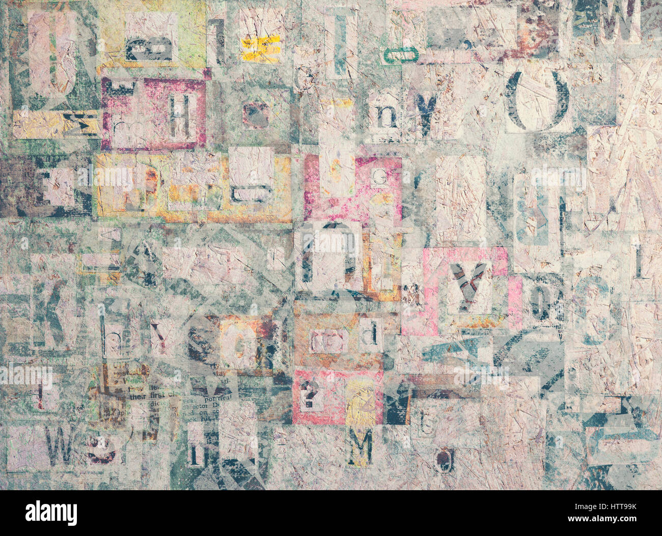 Abstract Art Mixed Media Grunge Stock Photo: Grunge Abstract Newspaper Background Design Stock Photos