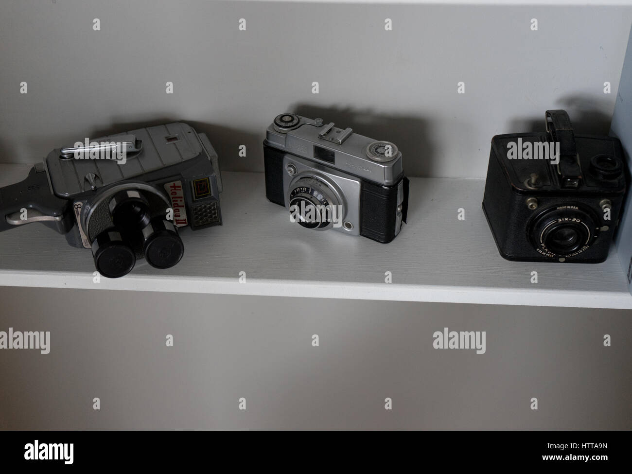 3 cameras of yester-year - Stock Image