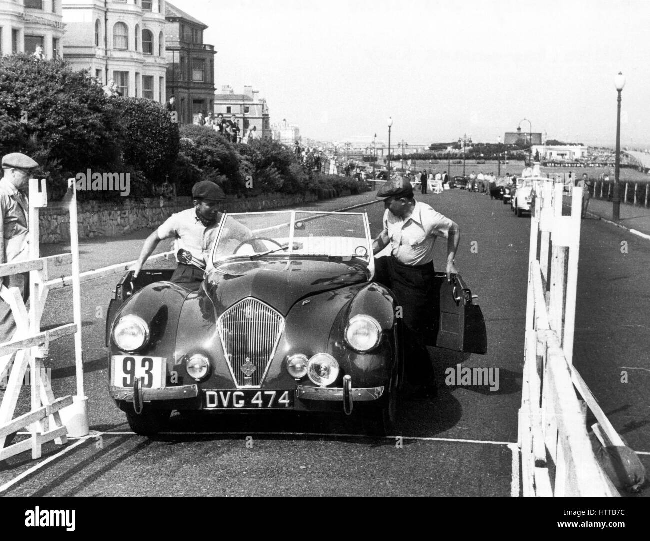 Healey Westland 2.4 of S.P.A. Freeman. Eastbourne rally 5th July 1952 - Stock Image