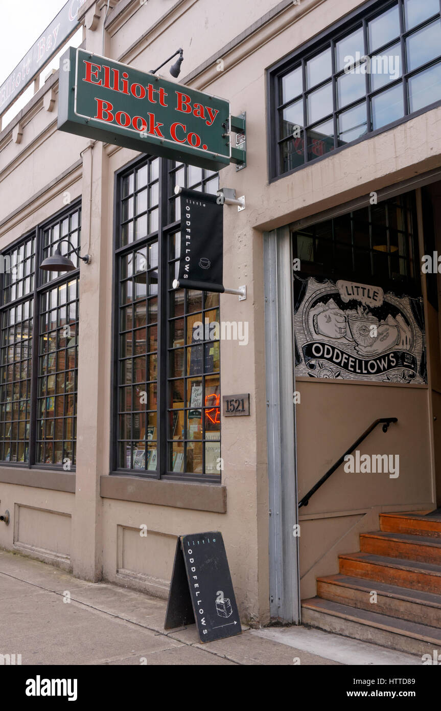 The Elliot Bay Book Company bookstore in the Capitol Hill neighborhood of Seattle, Washington, USA - Stock Image