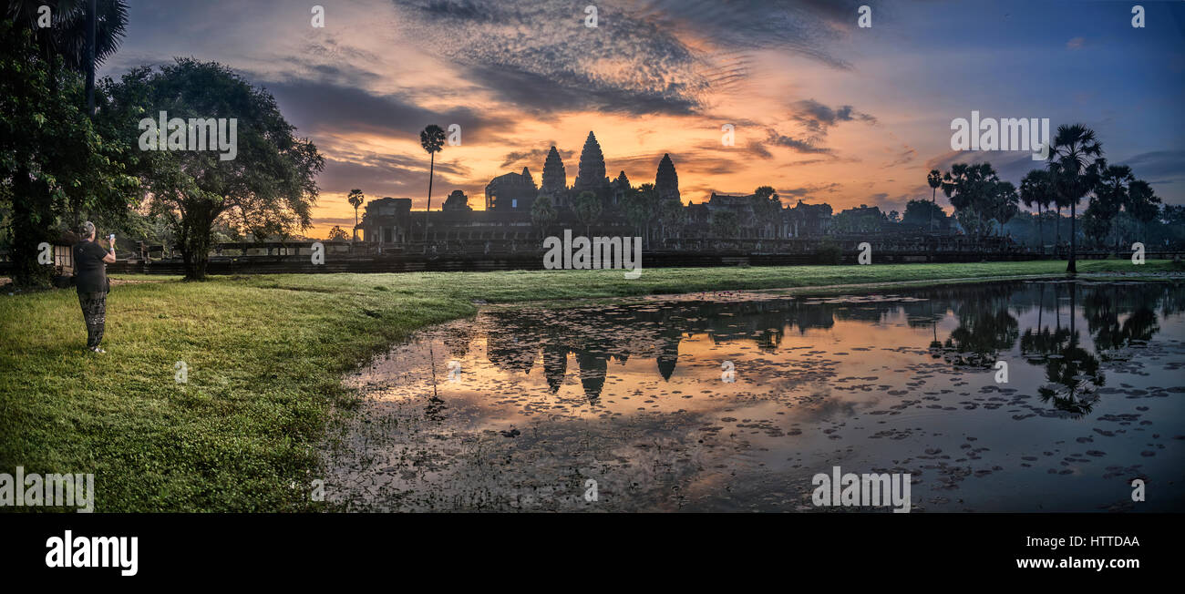 Angkor Wat, Siem Reap, Cambodia Stock Photo