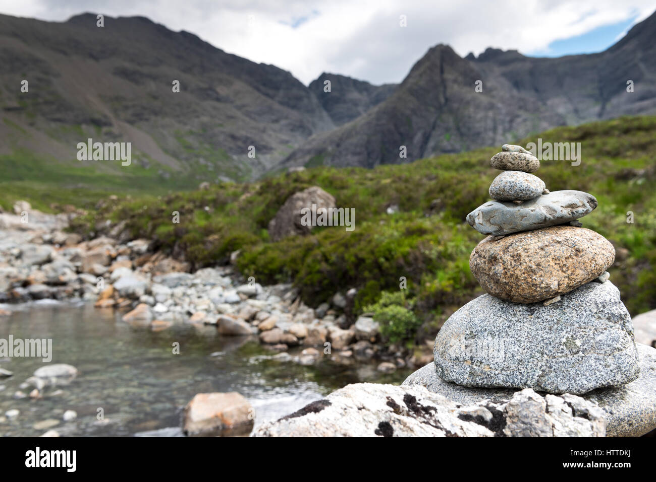 Balance concept, inspiration, zen-like and well being tranquil composition - Stock Image