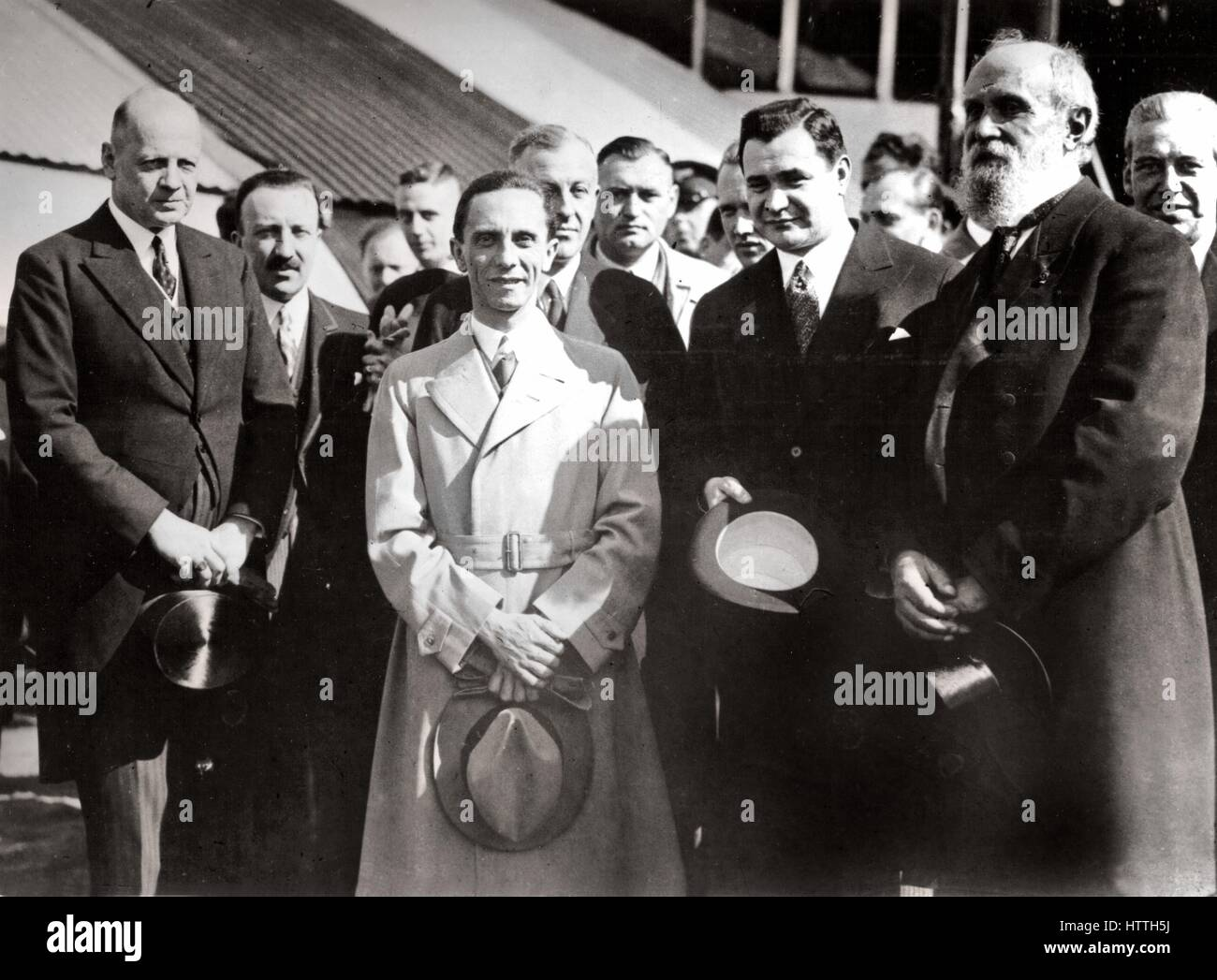 Goebbels in Warsaw. On his left, Von Moltke, June 1934, Germany. (Photo by: Photo12/UIG via Getty Images) - Stock Image
