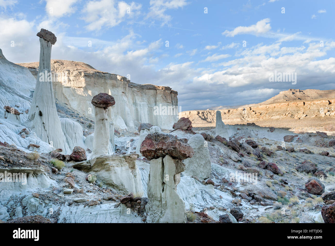 Famous hoodoos in Wahweap wash in Grand Staircase Escalante national monument Stock Photo