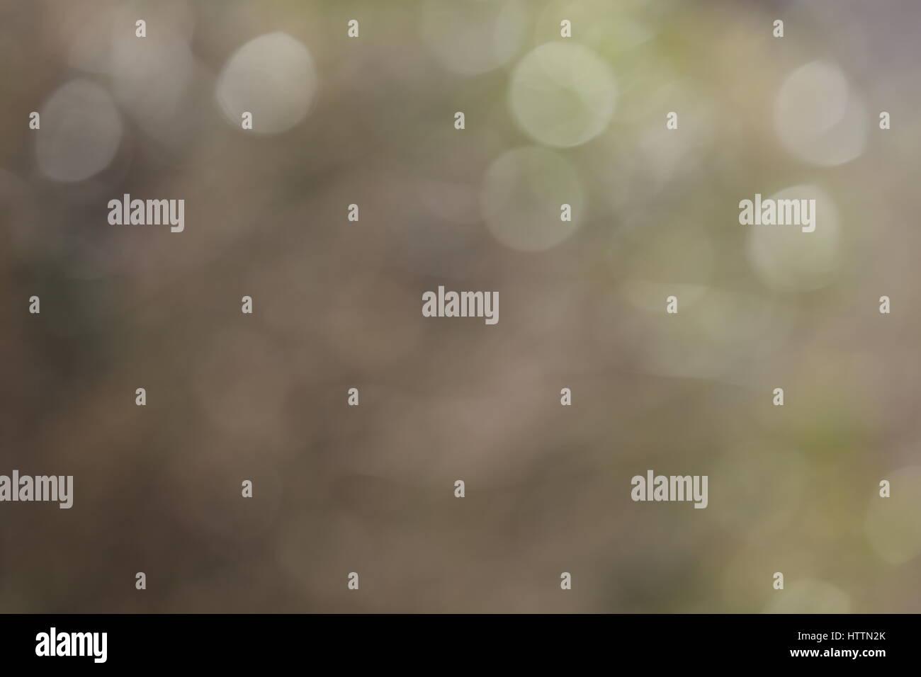 Hintergrund Bokeh Lichtreflexe weiß grün gelb - Stock Image