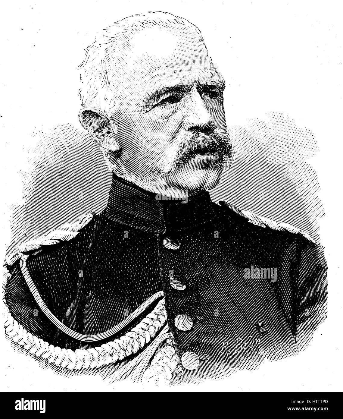Adolf Albert Ferdinand Karl Friedrich von Bonin, November 11, 1803 - April 16, 1872, was a Prussian officer, most - Stock Image