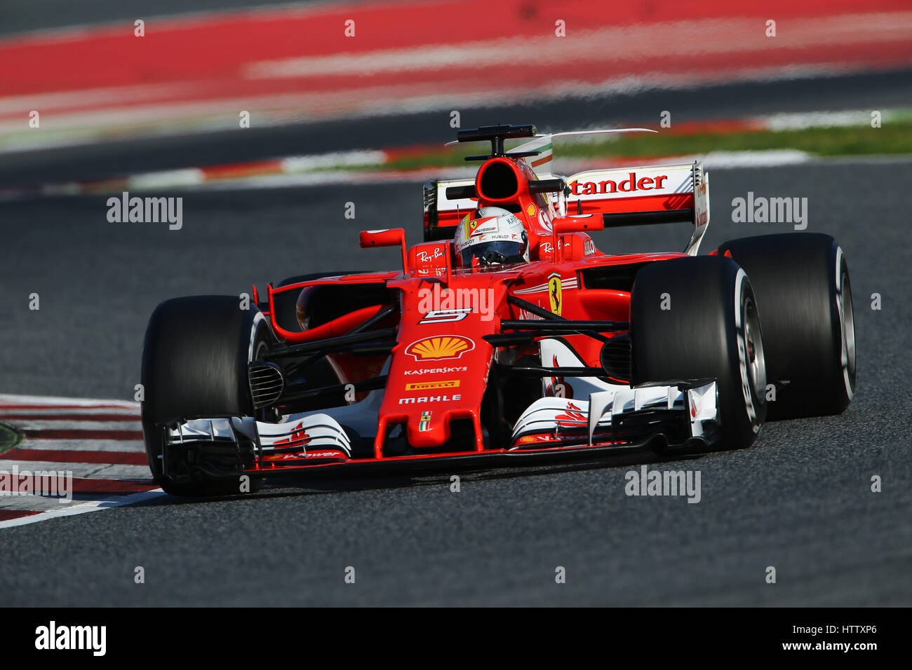 Sebastian Vettel Ger Driving His Scuderia Ferrari Sf70h During The Stock Photo Alamy