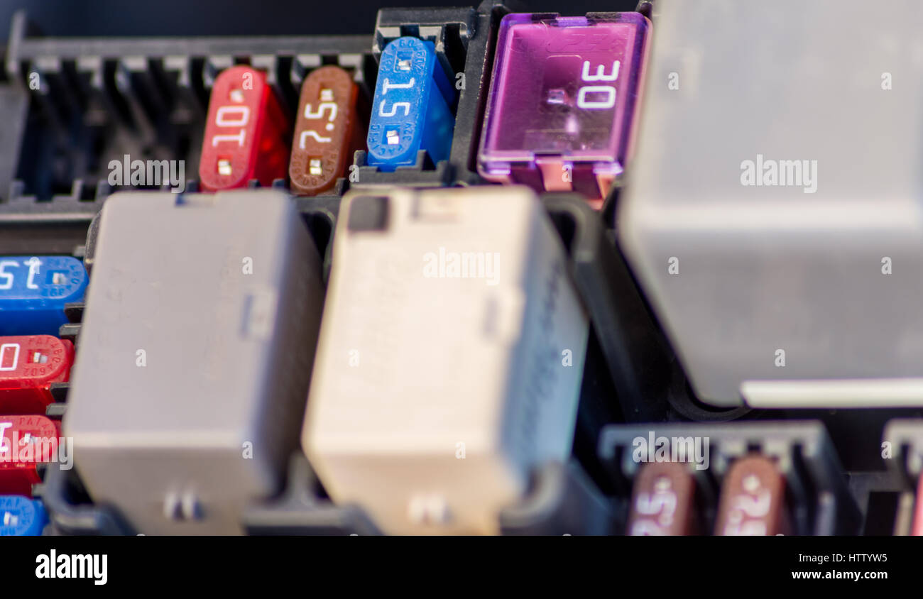 Car Fuse Stock Photos Images Alamy Box India Selective Focus Image