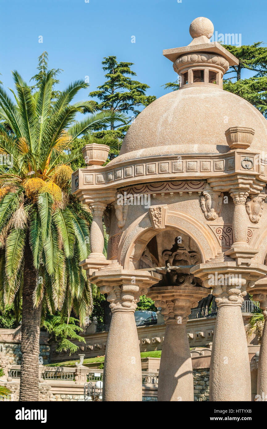 Architectural Detail in the Park of the Villa Grock in Oneglia, Imperia, Liguria, Italy. - Stock Image