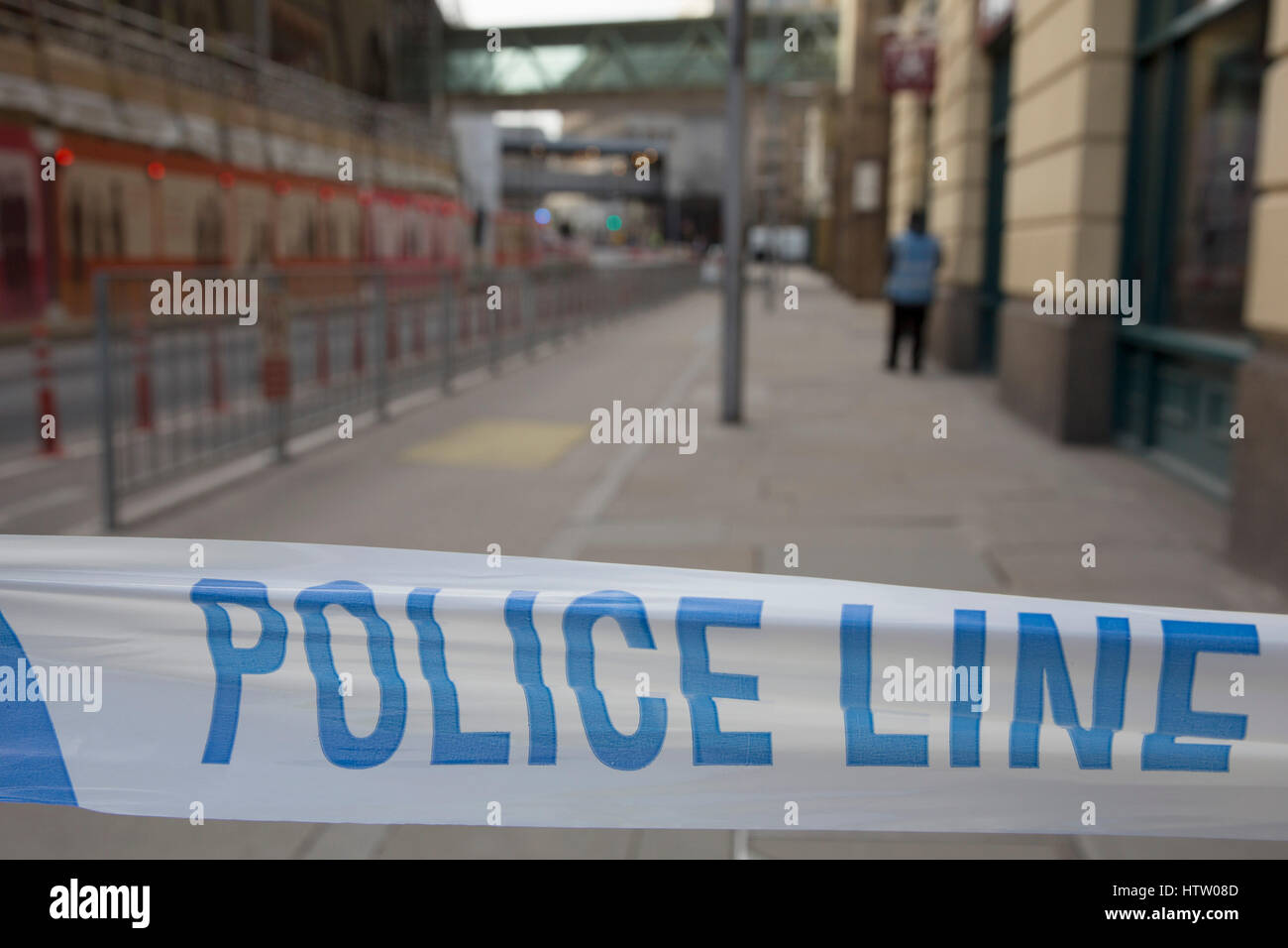 London Bridge Station was evacuated due to an abandoned vehicle on 7th March 2017, in London, United Kingdom. The - Stock Image