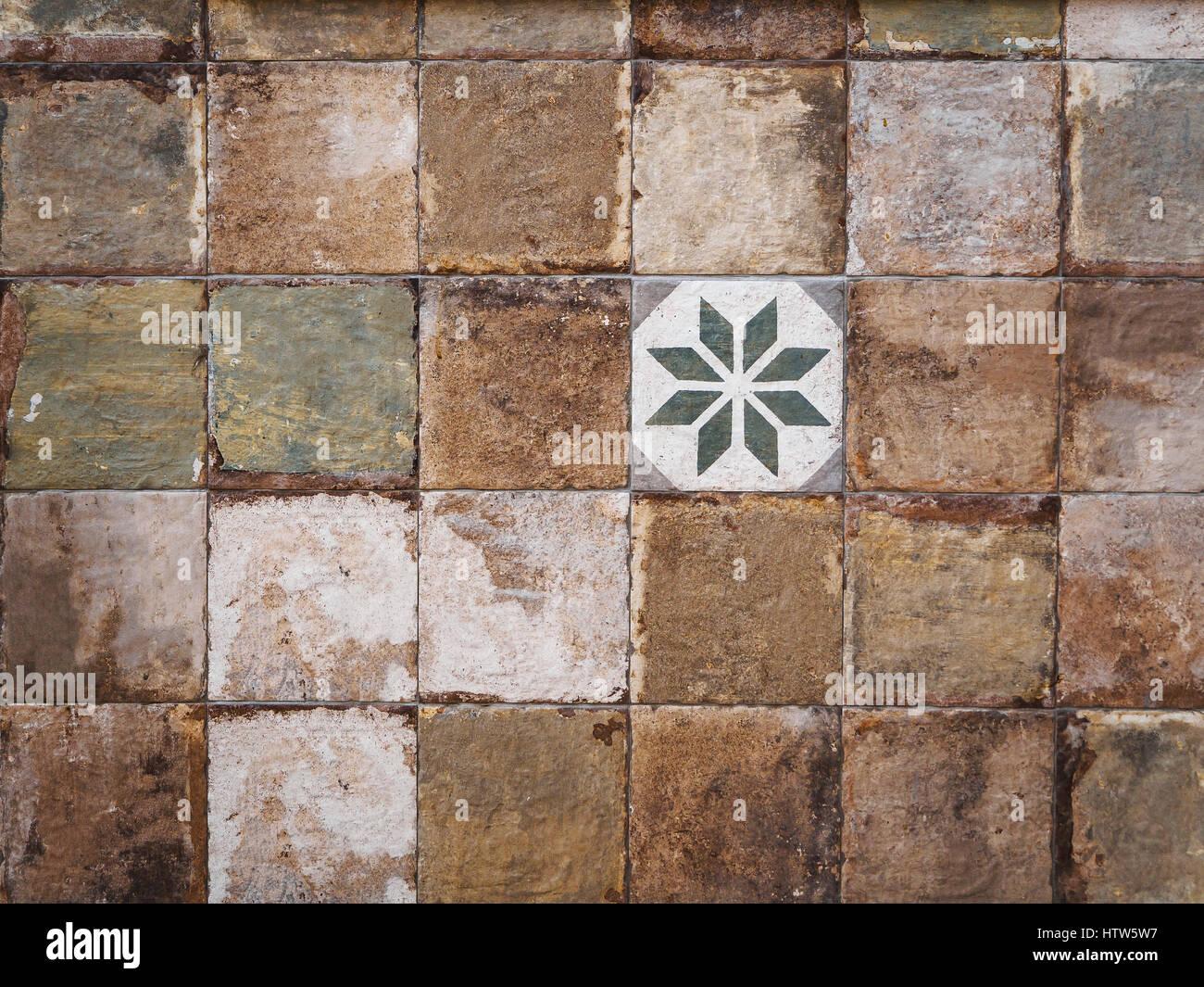 Colorful Vintage Ceramic Tiles Wall Decoration Stock Photo Alamy