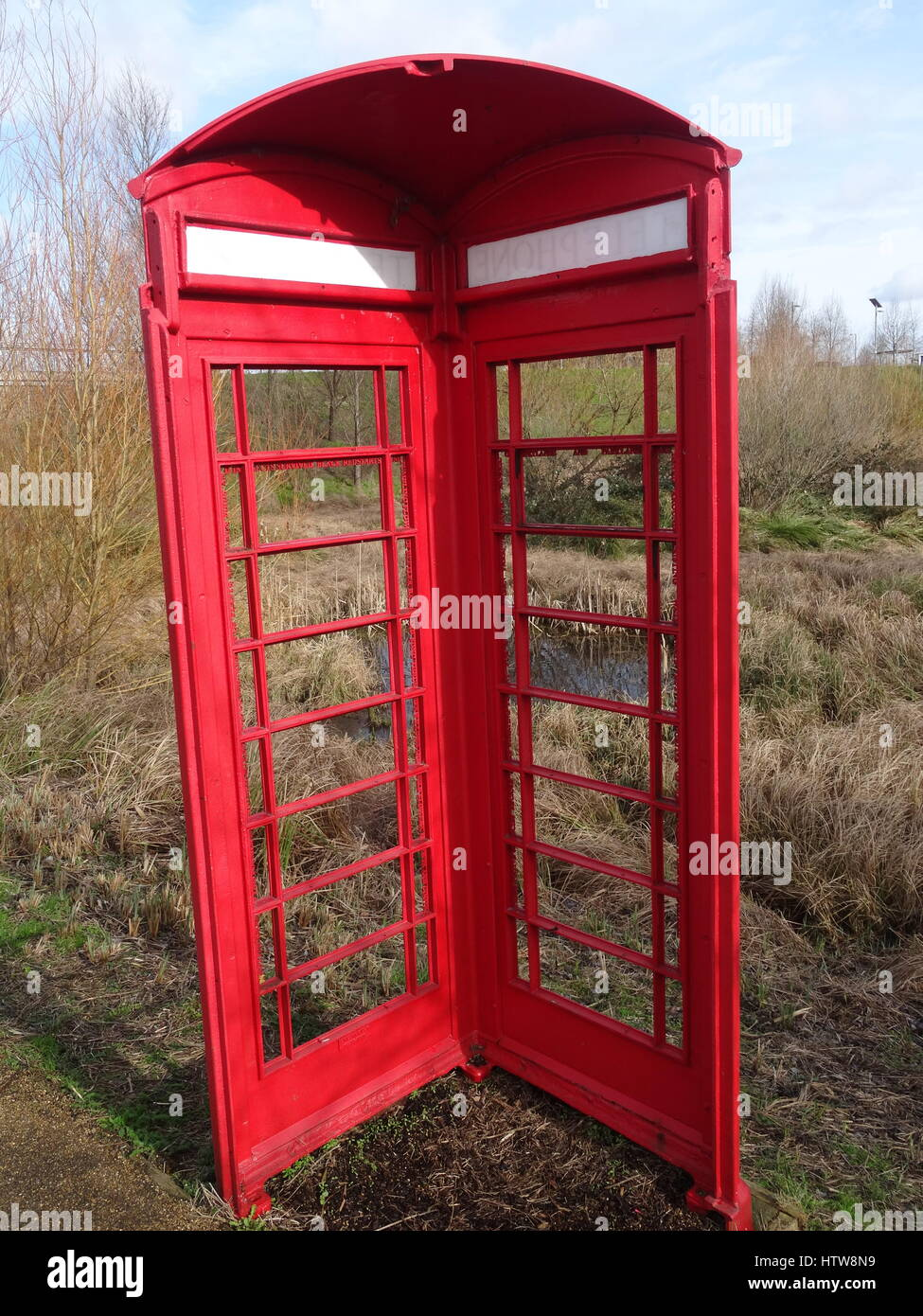 Stratford phone box - Stock Image